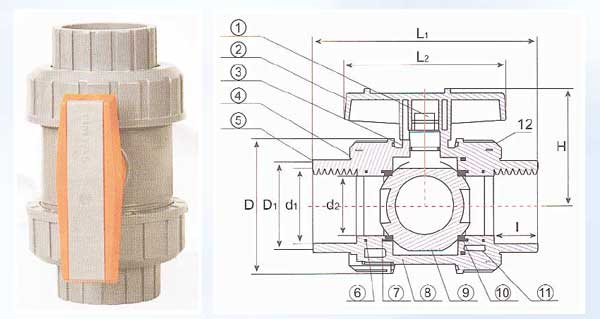 Female Threaded True Union Ball Valve (for water)