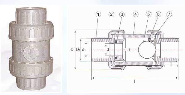 True Union Ball Check Valves (for water)