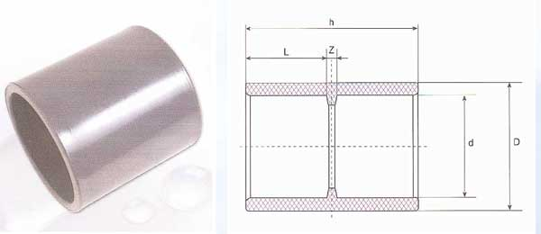 Pressure Pipe Fittings - Double Socket (U-PVC)